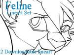 Feline-Lineart-