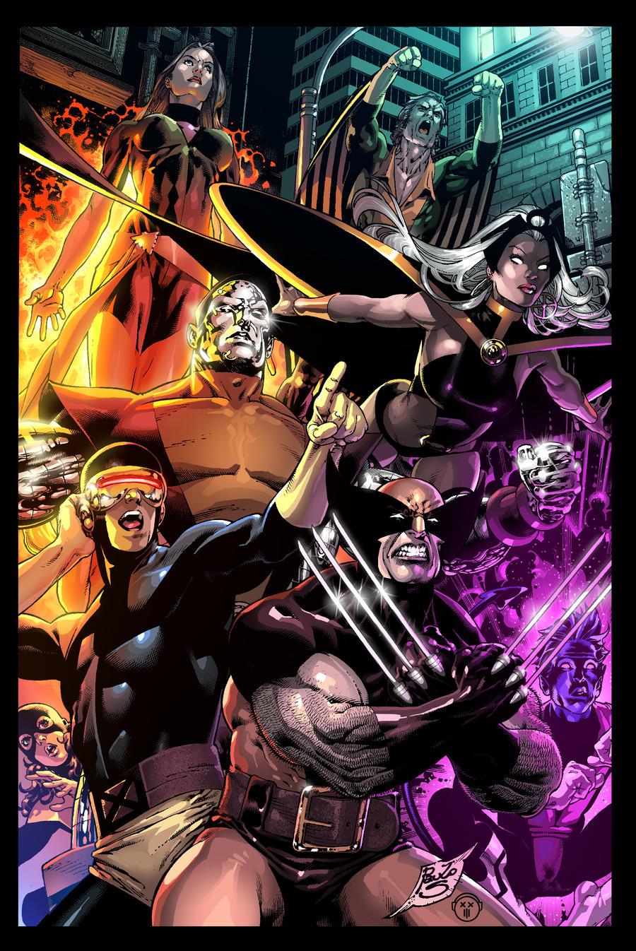 X-MEN battle piece by DigitalCutti