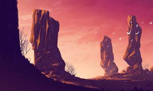 Sun set background by DigitalCutti
