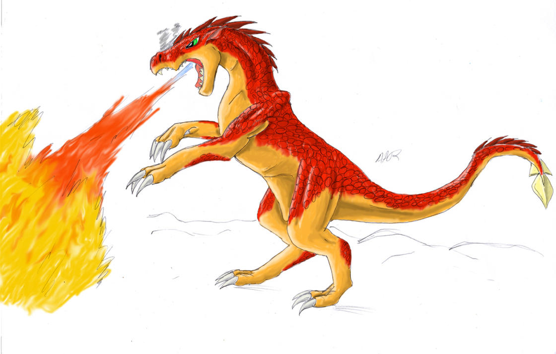 cool fire dragon is very strong