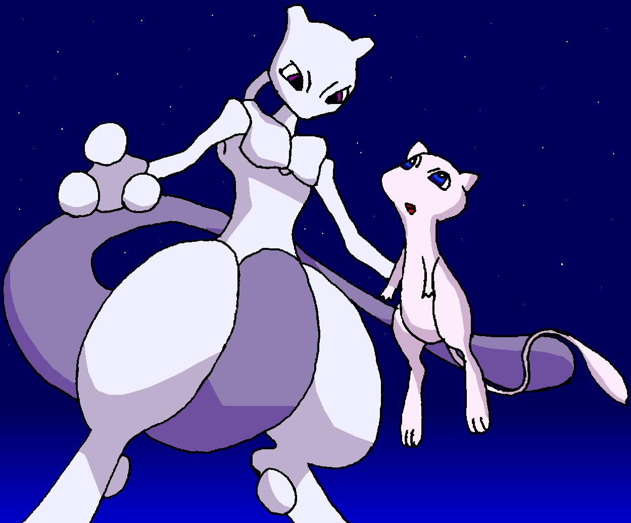 Mewtu and Mew
