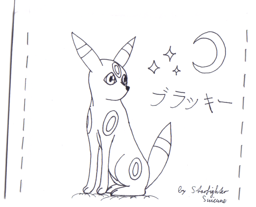 Umbreon on a letter