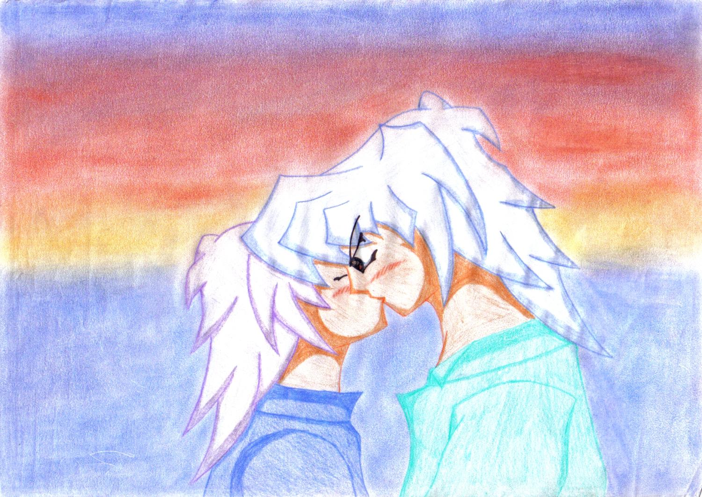 Ryou and Yami Bakura - Colored