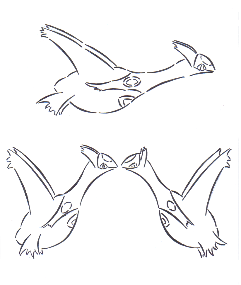 latias and latios coloring pages - photo#26