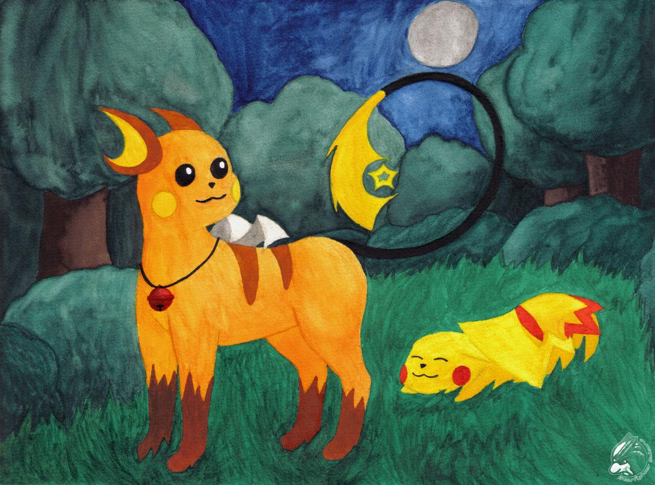 Sleepchu and Pikachu