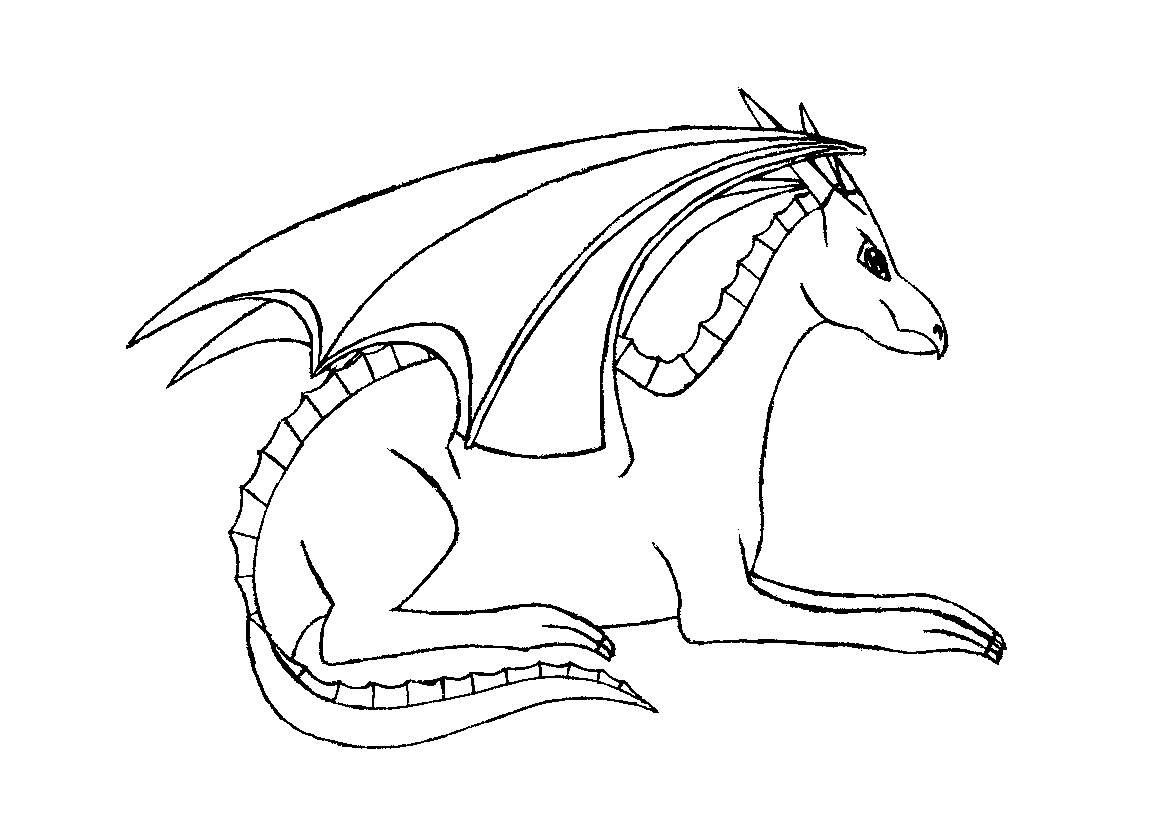Lying dragon - Outlines
