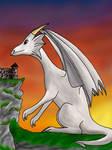 Dragon and a castle - Colored