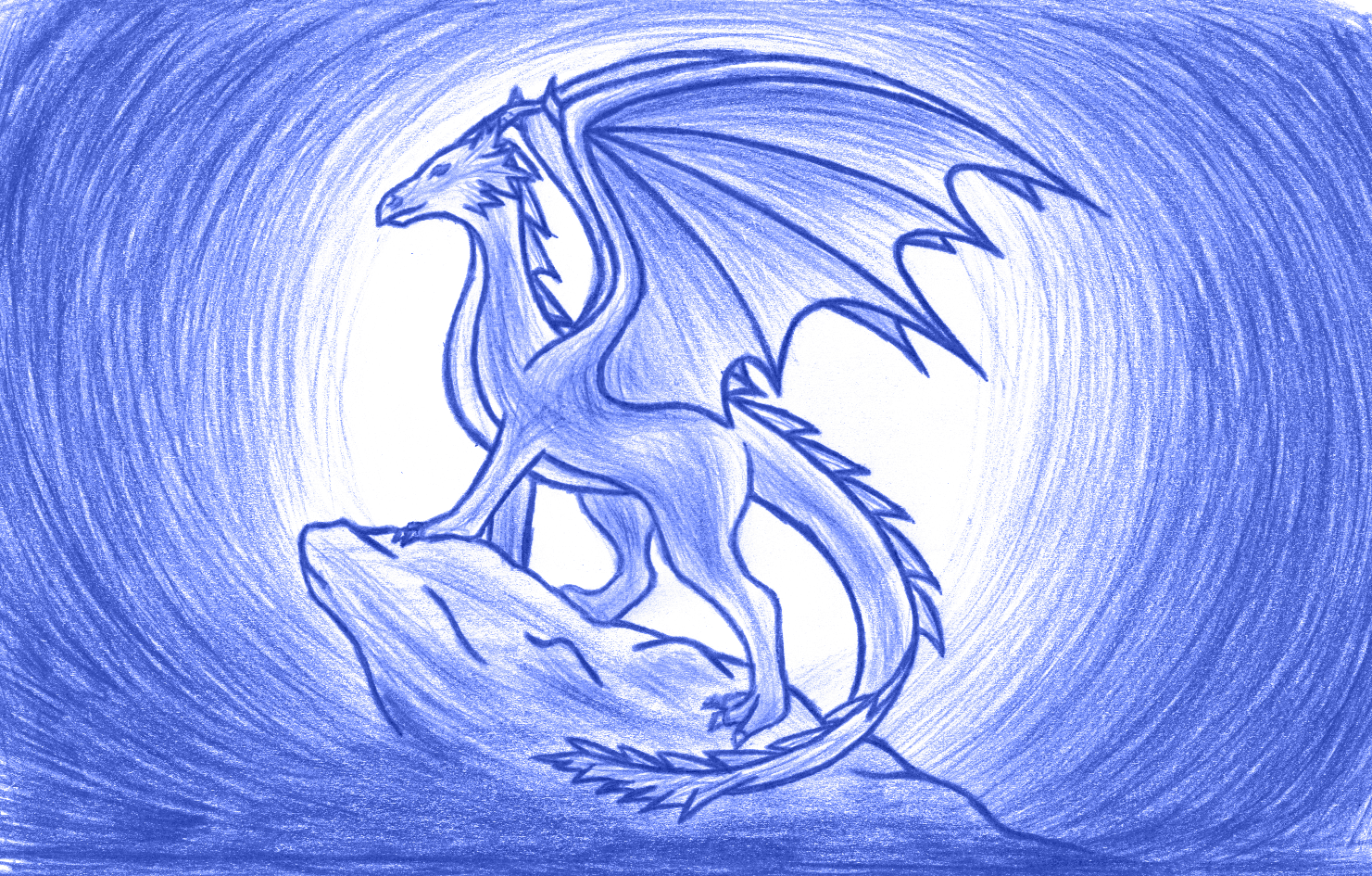 Dragon on a stone