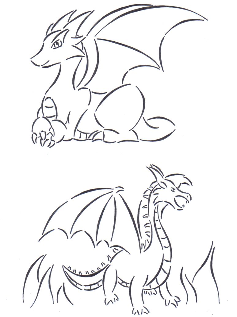 Dragon engraving templates by Starfighter-Suicune on DeviantArt