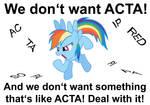 Ponies vs. ACTA