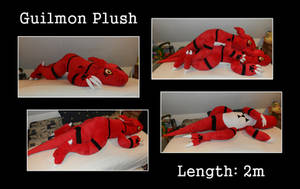 Guilmon Plush (Ver. 2) by Starfighter-Suicune