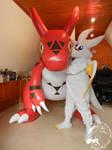 Photoshooting! Chibisuke and Guilmon