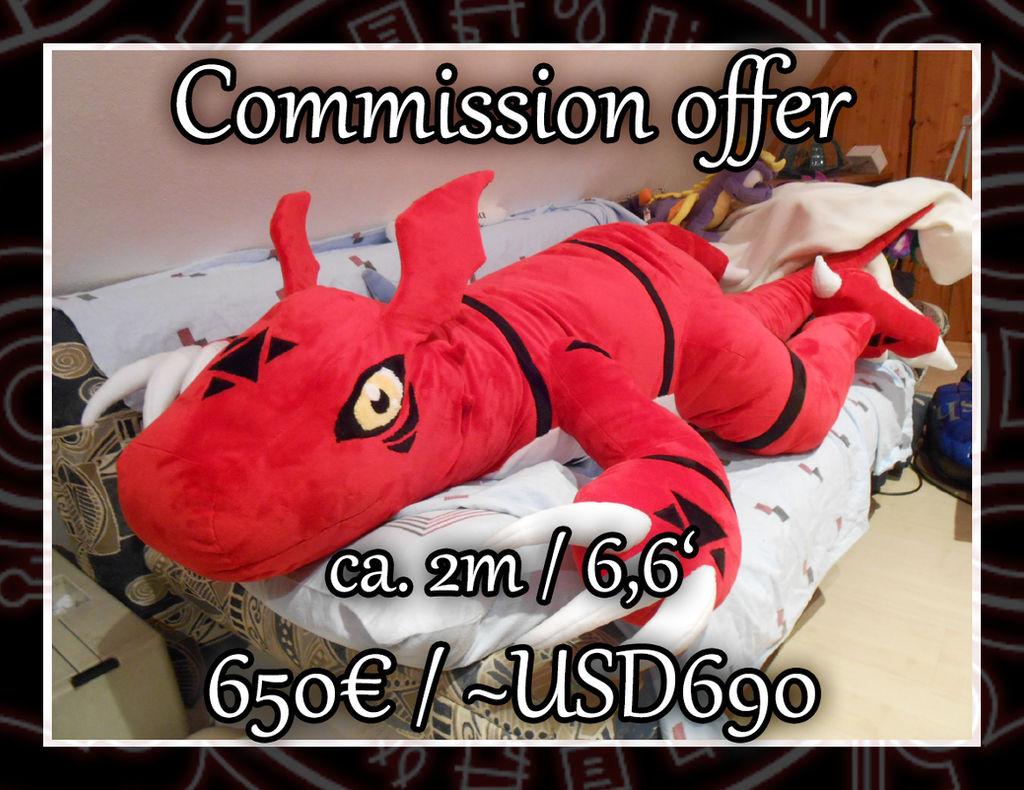 [Commission offer] Huge Guilmon Plush!