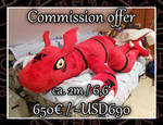 [Commission offer] Huge Guilmon Plush!