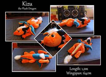 Kizu the Plush Dragon by Starfighter-Suicune