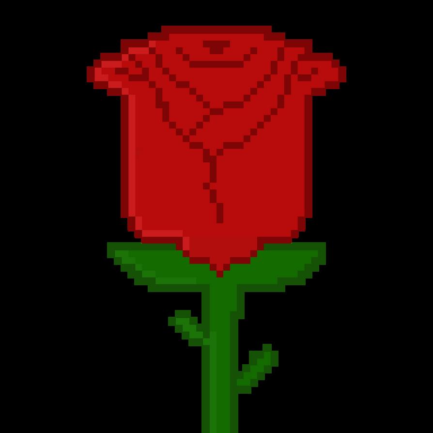 Pixel Rose By Dr-Morgan47 On DeviantArt