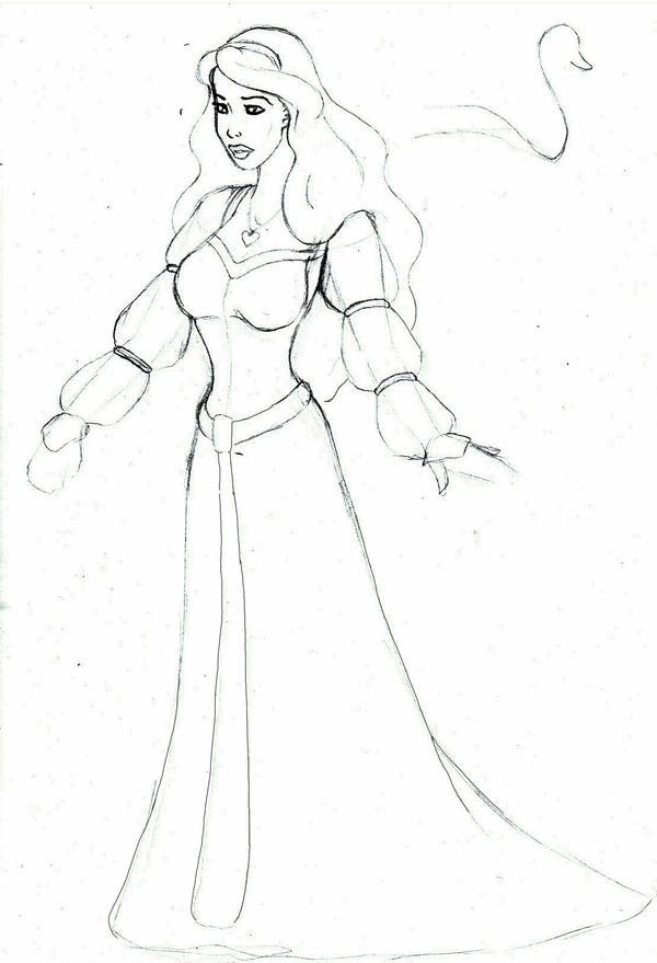 Odette pencil sketch by charligal