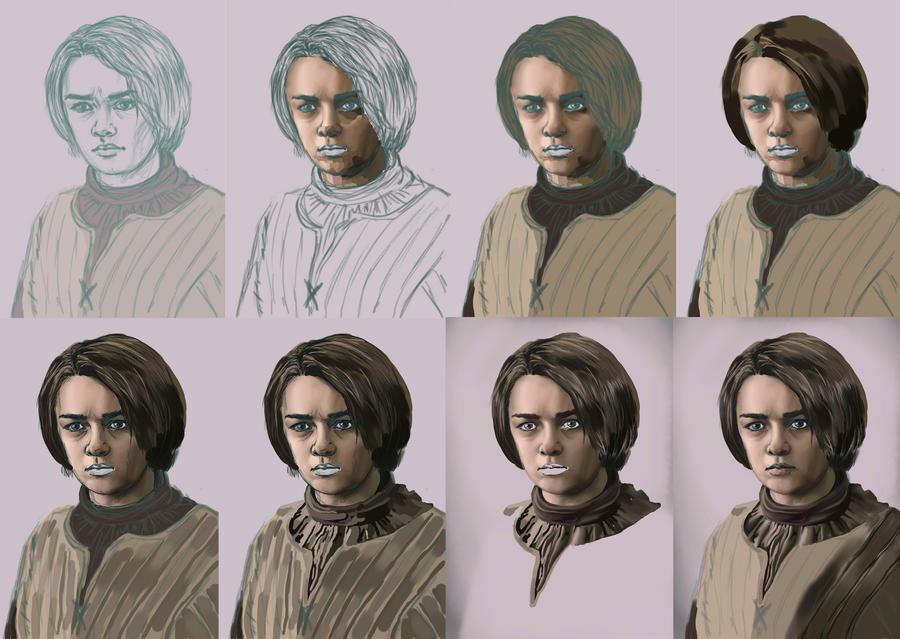 Arya Stark wip by charligal