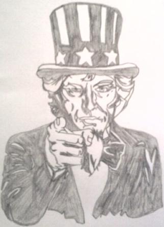 Random drawing  Uncle Sam  by  Tiwz on deviantARTUncle Sam Drawing Tutorial