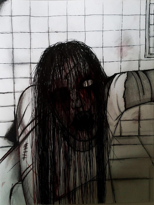 Creepy girl by evelynsixx on DeviantArt