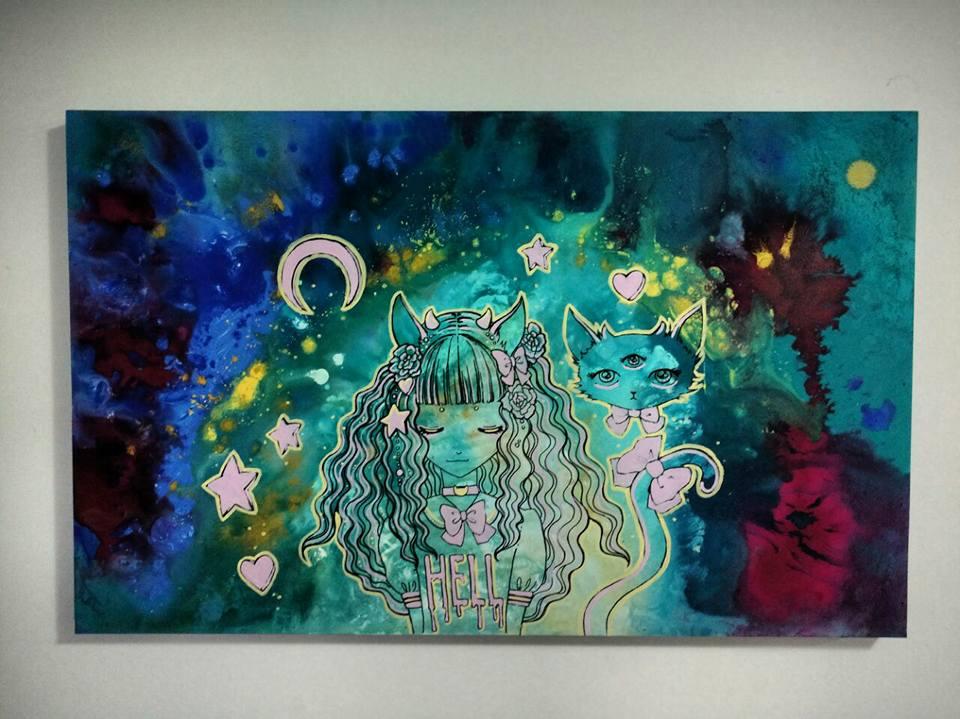 kawaii Galactic Girl by DrusilArt