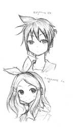 kagamine twin doodle