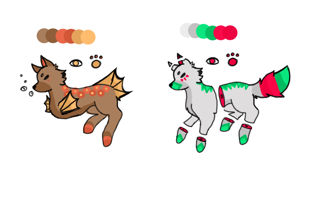Wolf Adoptables 2/2 OPEN POINTS ONLY by Vincenaut