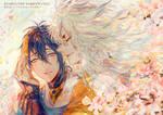 Touken Ranbu - Kogimika and Cherry Blossom