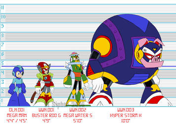 Mega Man: The Wily Wars size chart by MSipher