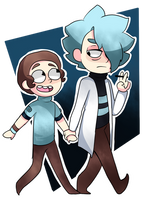 Rick and Morty.- Chibi by yusunaby
