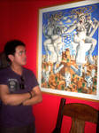 In front of a Tatong Painting