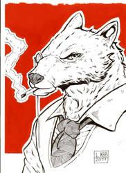 gouache Wolf