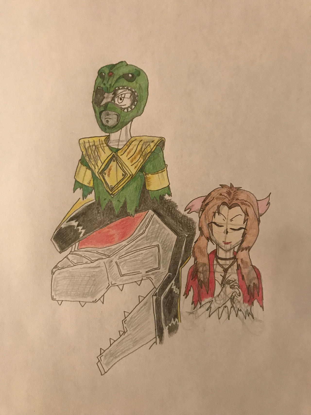 Jotaro, Aerith, and Dragon Caeser