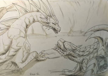 2019 InkTober 12 - Dragon