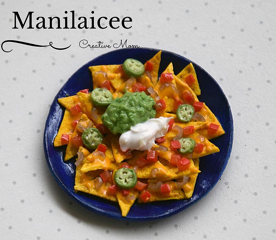 Miniature nachos Mexican food by Manilaicee