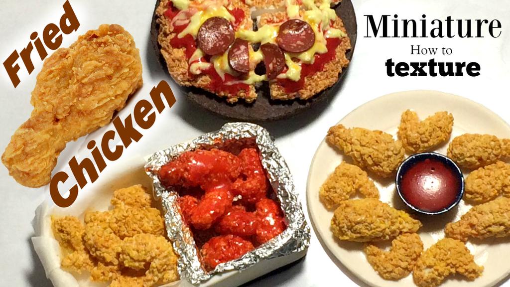 MINIATURE Fried Chicken DIY polymer clay by Manilaicee