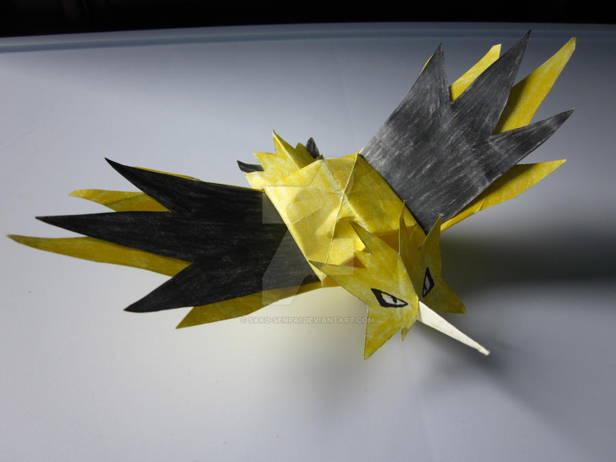 zapdos origami by sakusenpai on deviantart