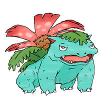 Draw'em All Challenge: 003 Venusaur by Saku-Senpai