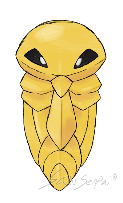 Draw'em All Challenge: 014 Kakuna by Saku-Senpai