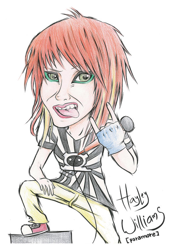 hayley caricature by RedKid11