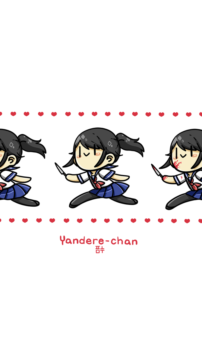 Yandere-chan phone wallpaper by PandaHero-Peke
