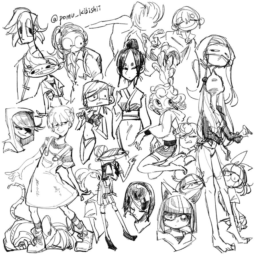 Doodle dump by PandaHero-Peke