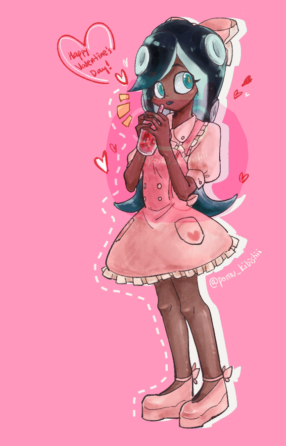 Valentine's Art Trade - Amanda by PandaHero-Peke