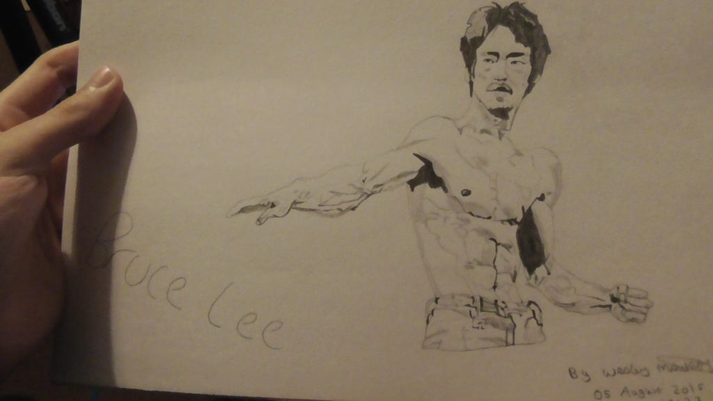 My Drawing of Bruce Lee by wes2323