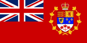 Canadian Red Ensign Old Combined with New