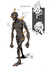 THE CHARRED MAN. by multi-comics