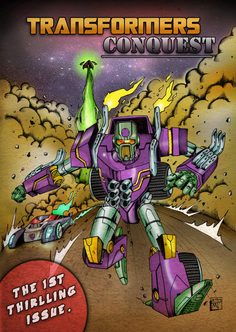 TRANSFORMERS CONQUEST variant cover by multi-comics