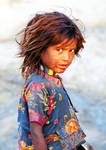 India: Street girl.