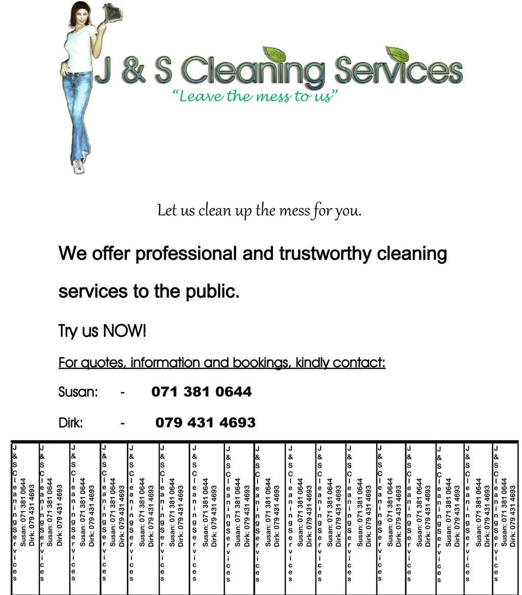 advert j and s cleaning services by unknown substance on advert j and s cleaning services by unknown substance