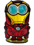 Stained glass stand Minion Iron man